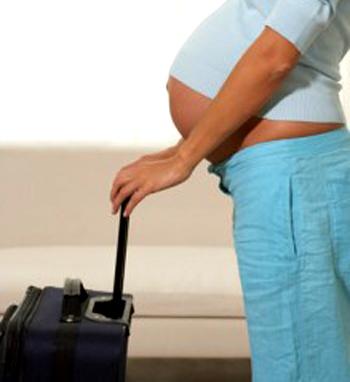 cuando y como viajar estando embarazadas